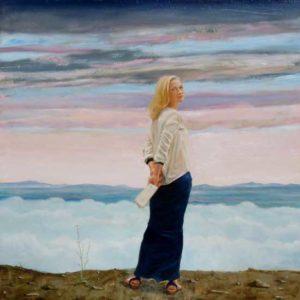 L'instant précis où Daniela me dit : «Pensez vous que l'amour possède un horizon ?» 100 cm x 100cm 2014