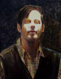 L'instant précis où peignant un autoportrait un éclair traversa l'atelier 41cm x 33cm 2014