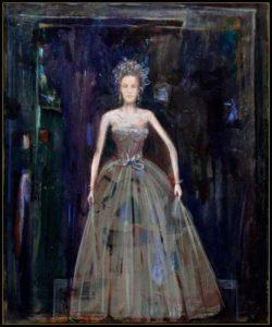 L'instant précis où pendant le bal au Palazzo Pisani Moretta, Blanche me dit : «Mais laissez un peu votre peinture et venez donc danser» 61cm x 50cm  2014