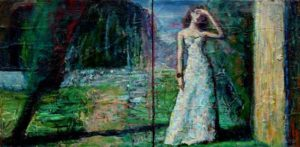 L'instant précis où Valentine me dit : «Vous allez vous amuser longtemps à jouer les peintres impressionnistes» 40cm x 20cm 2014