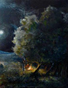 La nuit où tu dansais sous le crépitement du feu 35cm x 27cm 2014