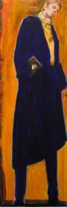 Armand sortant de l'exposition Rembrandt 150cm x 50cm  2015
