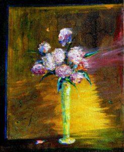 Vous souffrez de mon absence, j'ai déposé chez vous ce bouquet, il y a tout de moi, là 61cm x 50cm  2015