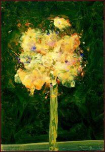 Ton bouquet pendant la fête  55cm x 38cm 2015