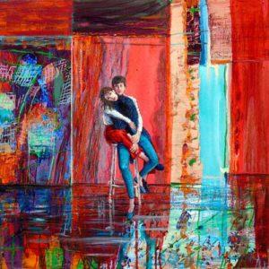 L'atelier d'Andrew. L'amour entre Valentine et Andrew était très fusionnel, comme un véritable tressage.  50cm x 50cm 2015