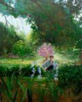 L'instant où Fred cueillant des fleurs pour Vanessa me dit: « A l' origine il y avait l'Eden !» 162cm x 130cm 2015