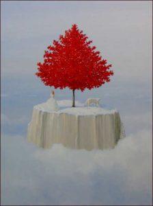 Il en était ainsi de mes rêves où l'hiver avait un peu d'avance, même en ours blanc je te regardais et t'écoutais chanter, mon cœur restait si chaud pour toi 116cm x 89cm 2015