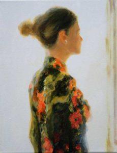 Je me souviens si bien, lors de l'exposition «De Rembrandt à Vermeer», tu étais la lumière, tu étais le mienne, Lucille si bien nommée. 35cm x 27cm  2016