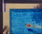 En revenant de l'exposition Soulages, chez Clara. 41cm x 33cm 2016