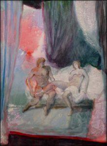 Aphrodite et Anchise 73cm x 54cm 2016