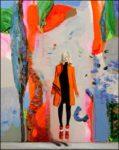 Coraline à l'atelier, le double jeu. 41cm x 33cm 2016