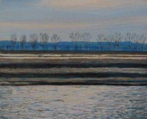 Nos balades d'hiver,couleur de tourterelle.  27cm x 22cm 2016
