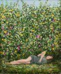 L'attente, Lisa lisant «l'image dans le tapis» d'Henry James 65cm x 54cm 2017