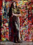 J'allais souvent peindre avec Ariane dans son atelier, ce n'était pas franchement une peinture de gamine, elle travaillait la chaire de la peinture.  73cm x 54cm 2017