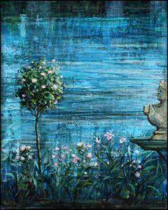 Il n'y a pas de reflets, sans histoire. Et si l'étang se souvenait d'un coup des noms de tous les amants comme un roman. 27 cm x 22 cm 2017