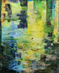 En écoutant - Au gré des ondes- de Dutilleux, regard sur l'étang.  100cm x 81cm 2017