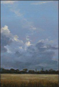 La lune jouait avec les nuages comme ton corps subtilement avec les draps d'un lit .J'attendais avec l'impatience d'un troupier, qu'elle s'offrit enfin.  35 cm x 24 cm 2017