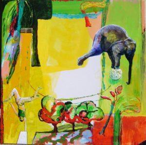 Jardin de Clary 100 cm x 100 cm 2008