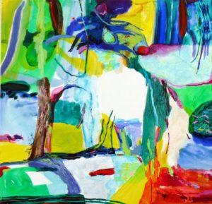 Jardin de Dan  100 cm x 100 cm 2009