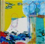 Jardin d'Edinal 40 cm x 40 cm 2009