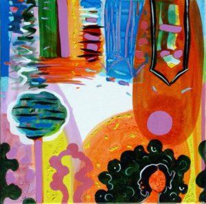 Jardin d'Edeline 50 cm x 50 cm 2009