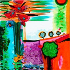 Jardin d'Ebalie 50 cm x 50 cm 2009