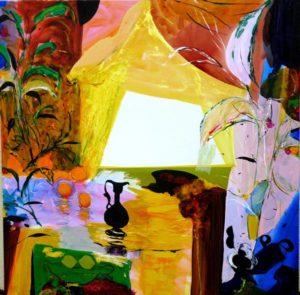 Jardin d'Erkan 120 cm x 120 cm 2010