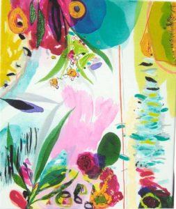 Le jardin d'Anaël  46 cm x 38 cm 2005