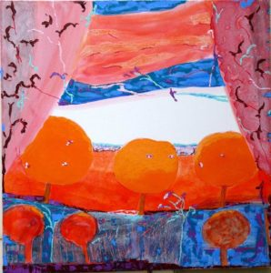 Jardin d'Ermando 100 cm x 100 cm 2010