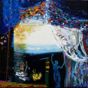 Jardin d'Evence 50 cm x 50 cm 2010