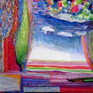 Jardin d'Evyst 40 cm x 40 cm 2010