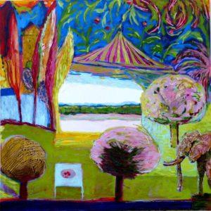 Jardin de Floreck 100 cm x 100 cm 2011