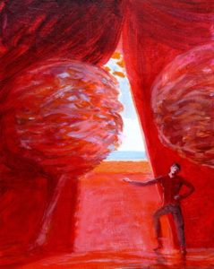 """Du côté de chez Miroslav""""la représentation""""  46 cm x 38 cm 2011"""