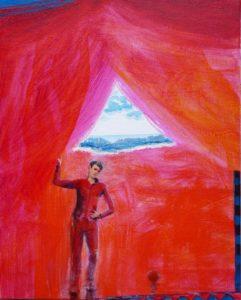 """Du côté de chez Miroslav """"la mer au fond"""" 46 cm x 38 cm 2011"""