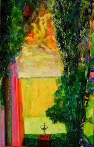 Le jardin d'Hanna 41 cm x 27 cm 2011