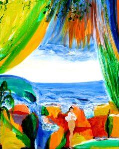 Le jardin d'Hadidja 100 cm x 81 cm 2011