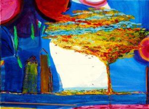 Le jardin d'Hadel  73 cm x 54 cm 2011