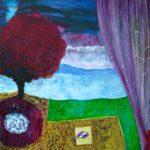 Le jardin d'Hamaë 100 cm x 100 cm 2012