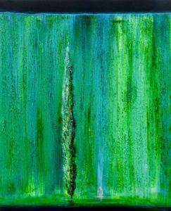Baigneuse au cyprès 73 cm x 60 cm 2012