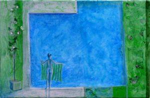 Chez Jacinda , un matin 46 cm x 27 cm 2012