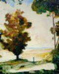 L'émotion des grands arbres pendant ta promenade 81 cm x 65 cm 2012