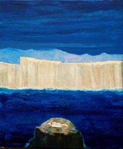 Une Néréide, un soir  55 cm x 46 cm 2012