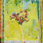 Un bouquet pour Flora, son temple au fond 50 cm x 50 cm 2013