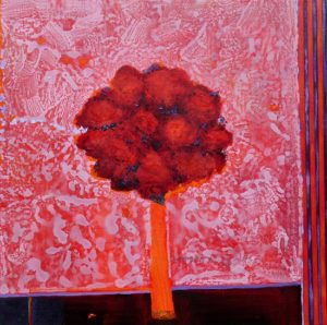 Quand ton bouquet un soir d'hiver te regarde dormir 60 cm x 60 cm 2013