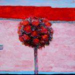 Ton bouquet fait rougir les falaises 60 cm x 60 cm 2013