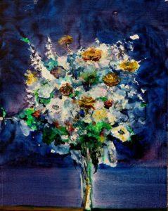 Ton bouquet voyage la nuit 40 cm x 50 cm 2013
