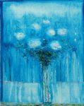 Derrière la fenêtre, ton bouquet aussi pleurait après ton départ 46 cm x 38 cm 2013