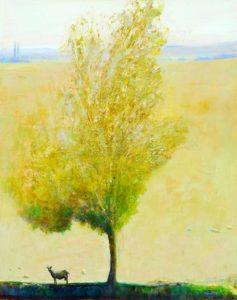 Josette sous l'arbre jaune 92 cm x 73 cm 2013