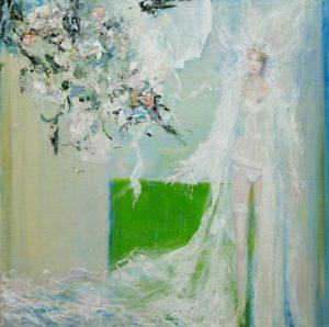 Le mariage de Flore, le coup de vent vers 7h45 60 cm x 60 cm 2013