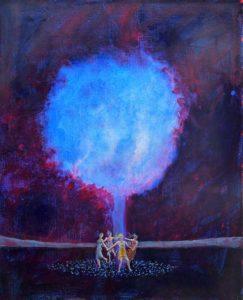 Ma nuit avec les quatre saisons 41 cm x 33 cm 2013